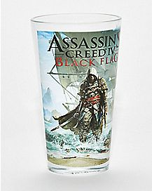 Black Flag Assassins Creed Pint Glass - 16 oz