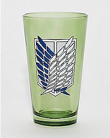 Survey Corps Pint Glass 16 oz - Attack on Titan