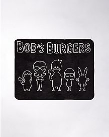 Character Silhouette Fleece Blanket - Bob's Burgers