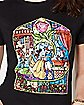 Stained Glass Beauty and The Beast T Shirt - Disney
