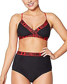 High Waist Harley Quinn Bikini Swimsuit - DC Comics