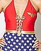 Lace Up One Piece Wonder Woman Swimsuit - DC Comics