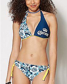 Floral Corona Bikini Swimsuit