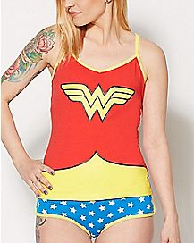 Glow in the Dark Wonder Woman Tank Panties Set - DC Comics