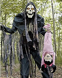 6.5 Ft Towering Boogeyman With Kid Animatronics - Decorations