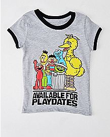 Toddler Available for Playdates Sesame Street T Shirt