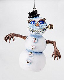 Evil Snowman Christmas Ornament