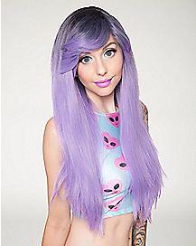 Dark Root Lavender Wig