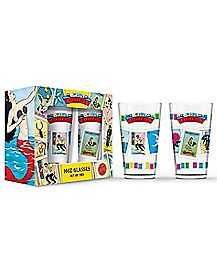 Don Clemente Loteria Pint Glass 2 Pack - 16 oz.