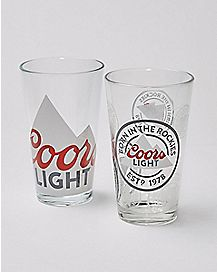 Coors Light Pint Glass 2 Pack - 16 oz.