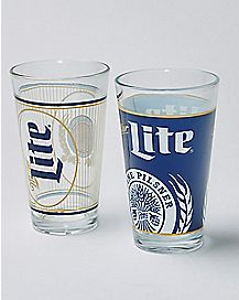 Miller Light Pint Glass 2 Pack - 16 oz.