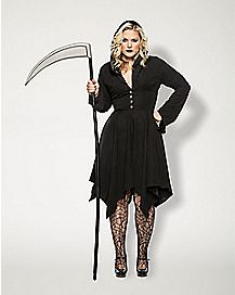 Adult Grim Reaper Dress Plus Size Costume