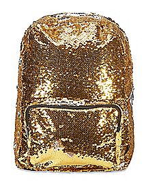 Gold and Silver Magic Sequin Backpack