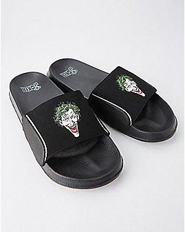 The Joker Slide Sandals - DC Comics
