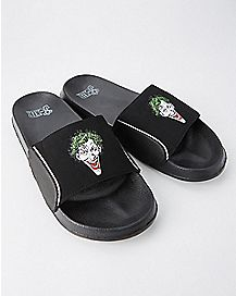 The Joker Slide Sandals - DC Comics