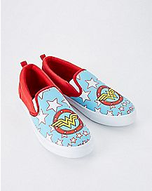 Wonder Woman Slip On Sneakers - DC Comics
