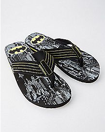 Gotham City Batman Flip Flops - DC Comics