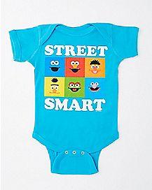 Street Smart Baby Bodysuit - Sesame Street