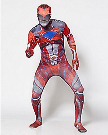 Adult Red Ranger Skin Suit Costume - Power Rangers