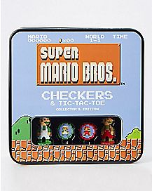 Super Mario Bros. Checkers and Tic-Tac-Toe Set - Nintendo