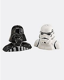 Darth Vader Stormtrooper Star Wars Salt and Pepper Mills