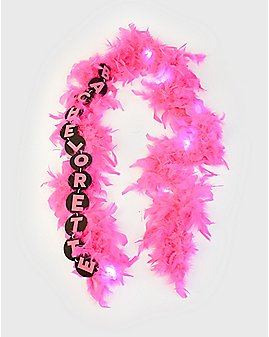 Pink Light Up Bachelorette Boa