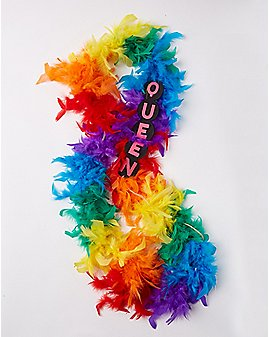 Rainbow Queen Light Up Boa