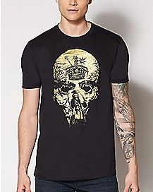 Skull Jack Sparrow T Shirt - Pirates of the Caribbean