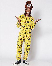 Emoji Poop Head Pajama Costume