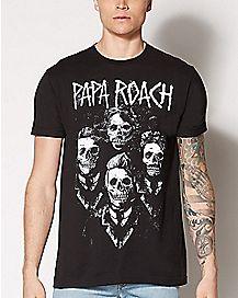 Skeleton Papa Roach T Shirt