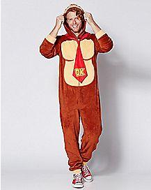 Donkey Kong Pajama Costume - Nintendo
