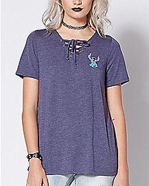 Tie Up Stitch T Shirt - Disney