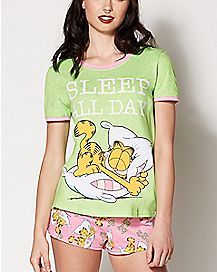 Sleep All Day Garfield Pajamas