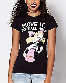 Move It Football Head Helga T Shirt - Hey Arnold
