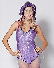 Galaxy Hooded Bodysuit