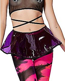 PVC Purple Mini Skirt
