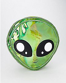 Green Holographic Alien Mini Backpack