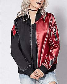 Black And Red Harley Quinn Bomber Jacket - DC Comics