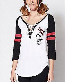 Joker's Favor Harley Quinn Raglan T Shirt