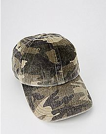 Washed Camo Dad Hat