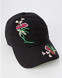 Embroidered Floral Dad Hat