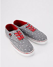 Gray and Red Minnie Mouse Sneakers - Disney