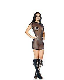 Micro Net T Shirt Dress