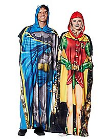 Batman and Robin Twinsie Pajama Costumes 2 Pack - DC Comics