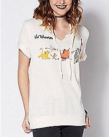 Tie Neck No Worries Lion King T Shirt - Disney
