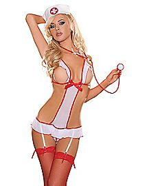 Naughty Nurse Teddy Set