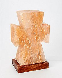 Cross Himalayan Salt Lamp