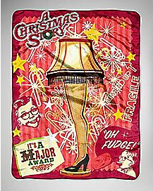 A Christmas Story Fleece Blanket
