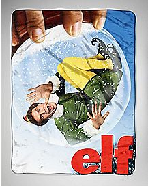 Snow Globe Elf Fleece Blanket