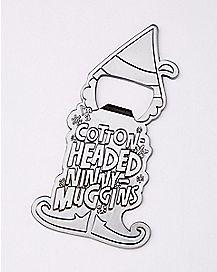 Cotton Headed Ninny-Muggins Bottle Opener - Elf